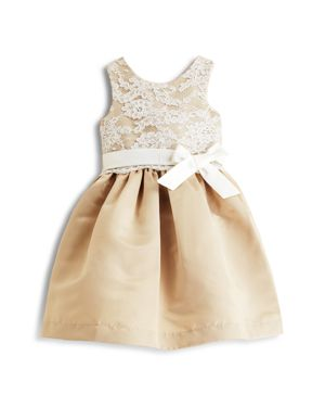 Us Angels Girls' Lace Overlay Dress - Little Kid