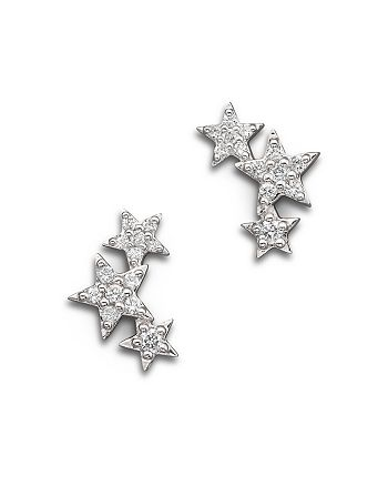 Bloomingdale's - Diamond Star Mini Ear Cuffs in 14K White Gold, .20 ct. t.w. - 100% Exclusive
