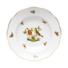 Herend - Rothschild Bird Rimmed Soup Bowl, Motif #7