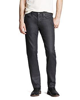John Varvatos Star USA - Bowery Slim Straight Fit Jeans in Graphite