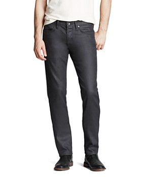 John Varvatos Star USA - Bowery Slim Straight Fit Jeans in Graphite