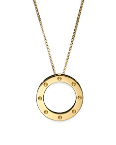 "Roberto Coin 18K Yellow Gold Pois Moi Circle Pendant Necklace, 16-18"" - Bloomingdale's_0"