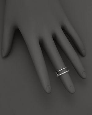 Kc Designs Double Row Midi Ring in 14K White Gold