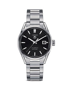 TAG Heuer Carrera Calibre 5 Stainless Steel and Black Dial Watch, 39mm - Bloomingdale's_0