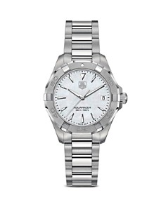 TAG Heuer Aquaracer 300M Quartz Stainless Steel and White Mother of Pearl Watch, 32mm - Bloomingdale's_0