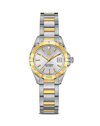 TAG Heuer - Aquaracer Stainless Steel and 18K Yellow Gold Watch, 27mm