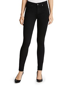 PAIGE - Transcend Hoxton High Rise Ultra Skinny Jeans in Black Shadow