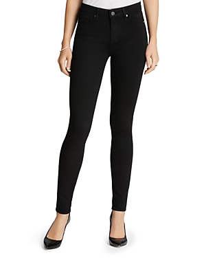 Paige Transcend Hoxton High-Rise Ultra Skinny in Black Shadow