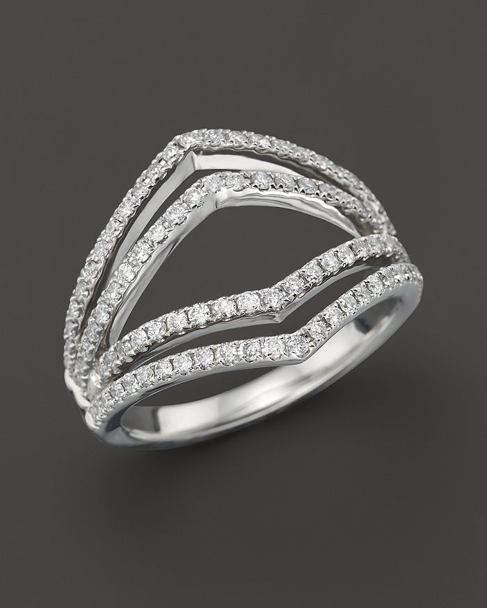 Bloomingdale's - Diamond Geometric Ring in 14K White Gold, .75 ct. t.w. - 100% Exclusive