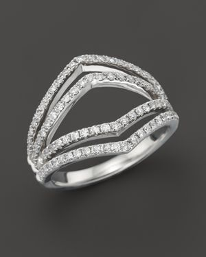 Diamond Geometric Ring in 14K White Gold, .75 ct. t.w. - 100% Exclusive