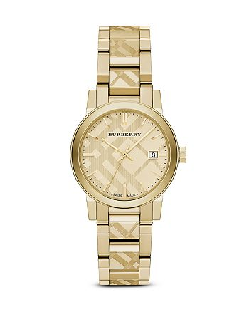 Burberry - Check Etched Bracelet Watch, 34mm