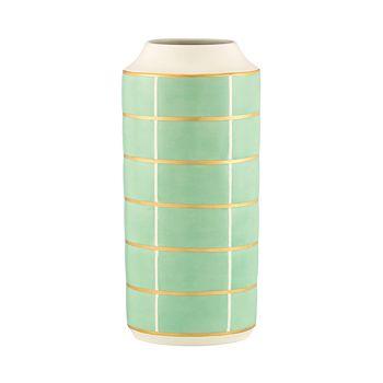 Kate Spade New York Sunset Street Extra Large Vase Turquoise Grid