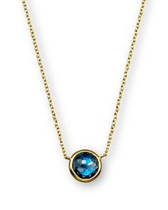"IPPOLITA - IPPOLITA 18K Gold Mini Lollipop Necklace in London Blue Topaz, 16"""