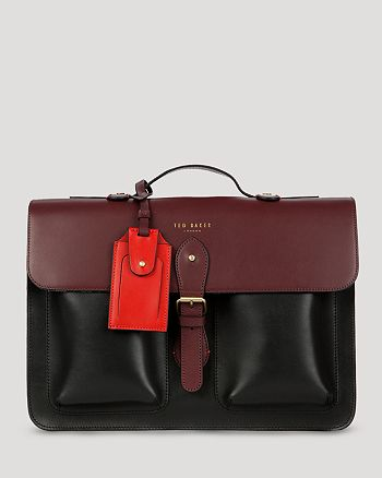 Ted Baker - Harlemm Mixed Leather Satchel