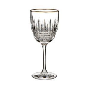 Waterford Lismore Diamond Gold Wine Glass