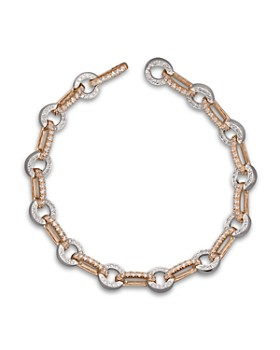 Bloomingdale's - Diamond Circle Link Bracelet in 14K Rose and White Gold, 1.35 ct. t.w. - 100% Exclusive