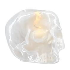 Kosta Boda Still Life Metallic Skull Votive - Bloomingdale's_0