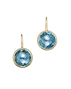 Bloomingdale's - Blue Topaz Small Drop Earrings in 14K Yellow Gold- 100% Exclusive