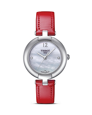 Tissot Pinky Ladies Watch with Red Strap, 28mm-Jewelry & Accessories