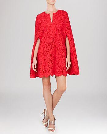 BCBGMAXAZRIA - Brynna Lace Cape Dress