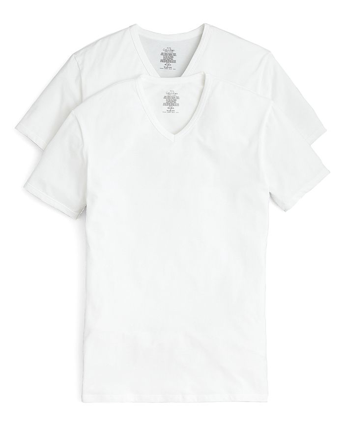 Calvin Klein - Cotton Stretch V-Neck Tee, Pack of 2