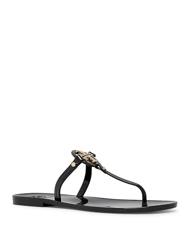 Tory Burch MINI MILLER FLAT THONG - T-bar sandals - ivory hyoWx