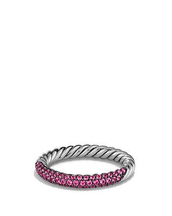 David Yurman - Petite Pavé Ring with Pink Sapphires