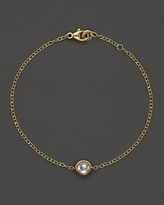 IPPOLITA - 18K Gold Mini-Lollipop Bracelet in Clear Quartz