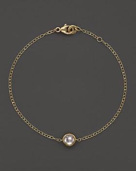 IPPOLITA - 18K Gold Mini-Lollipop Bracelet in Clear Quartz