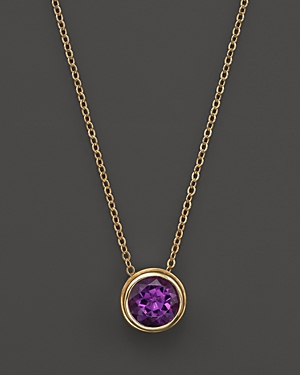 Amethyst Bezel Set Pendant Necklace in 14K Yellow Gold, 17 - 100% Exclusive