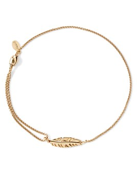 Alex and Ani - Precious Metals Symbolic Feather Pull Chain Bracelet