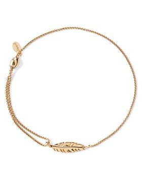 Alex and Ani - Precious Metals Symbolic Feather Pull Chain Bracelet