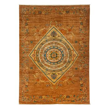 """Solo Rugs - Adina Collection Oriental Rug, 5'10"""" x 8'4"""""""