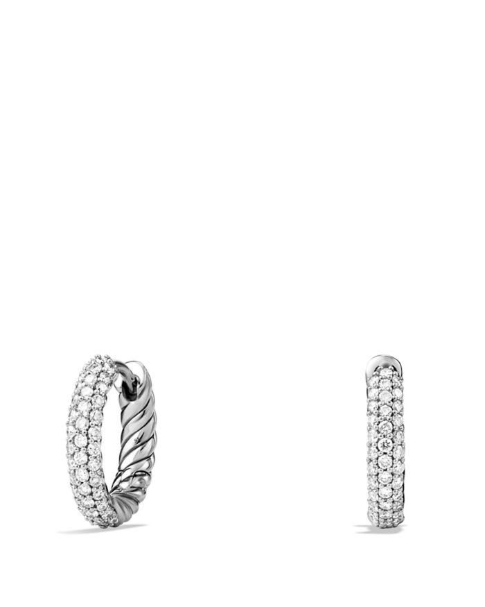 David Yurman Petite Pavé Earrings with Diamonds  | Bloomingdale's