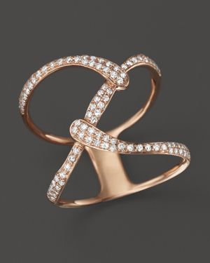 Diamond Open Weave Statement Ring in 14K Rose Gold, .35 ct. t.w. - 100% Exclusive