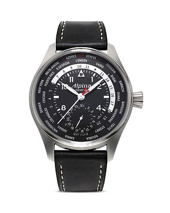 Alpina - Startimer Pilot In-House Manufacture Worldtimer Watch, 44mm