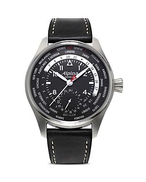 Alpina Startimer Pilot Worldtimer Watch, 44mm
