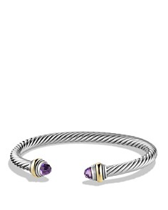 David Yurman - Cable Classic Bracelet with Gemstone and Gold