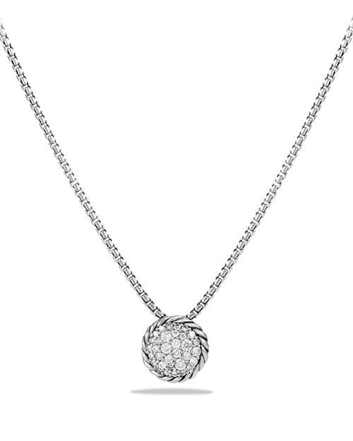 David Yurman - Châtelaine Pavé Pendant Necklace with Diamonds