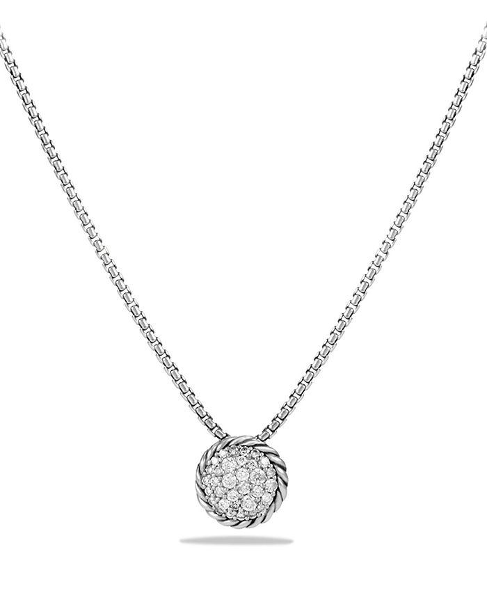 5eaaba832cd6 David Yurman - Ch acirc telaine Pav eacute  Pendant Necklace with Diamonds