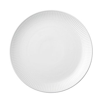 Royal Copenhagen - White Fluted Plain Coupe Dinner Plate