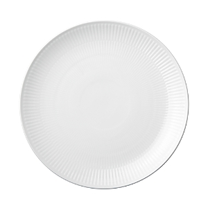 Royal Copenhagen White Fluted Plain Coupe Dinner Plate