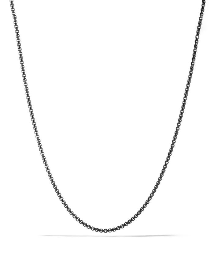 "David Yurman Small Box Chain Necklace 2.7mm, 26""  | Bloomingdale's"