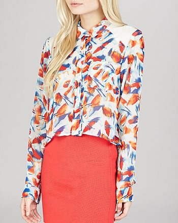 BCBGeneration - High Low Printed Top