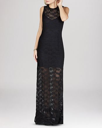 BCBGENERATION - Lace Overlay Maxi Dress