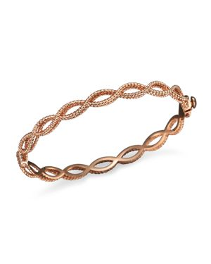 Roberto Coin 18K Rose Gold Single Row Twisted Bangle