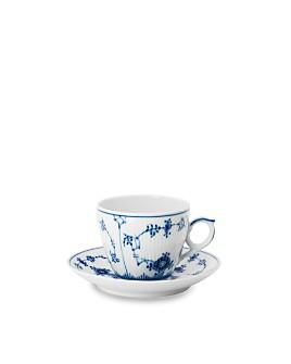 Royal Copenhagen - Blue Fluted Half Lace Cup & Saucer