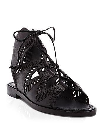 Dolce Vita - Flat Ghillie Lace Up Sandals - Deklon Cutout
