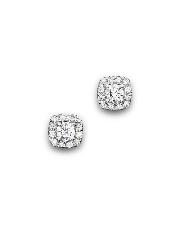 Bloomingdale's - Diamond Square Halo Stud Earrings in 14K White Gold, .50 ct. t.w.- 100% Exclusive
