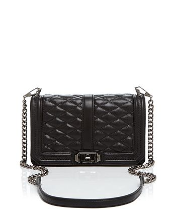 in stock new arrival outlet store sale Rebecca Minkoff Quilted Love Crossbody | Bloomingdale's